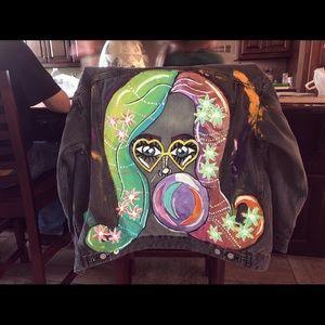 Custom painted Jean jacket